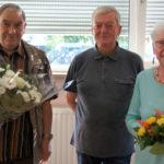 Hans Klose mit den Geburtstagskindern Franz-Josef-Stilk und Elfriede Nießen