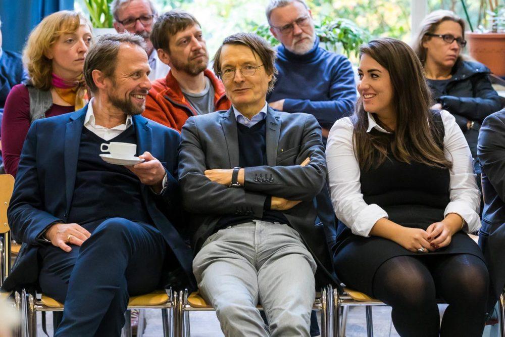 Uwe Richrath, Karl Lauterbach und Aylin Dogan
