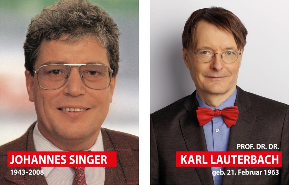 Johannes Singer Und Karl Lauterbach Spd Unterbezirk Leverkusen